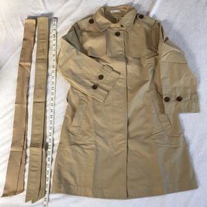 GAP 3/4 sleeve raincoat with 2 different belts.